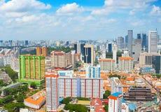 Powietrzny pejzaż miejski Singapur fotografia stock