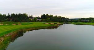 Powietrzny Piękny widok Golf Club kurort 4K zbiory