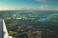 powietrzny piękny miasta France landscap zdjęcia royalty free
