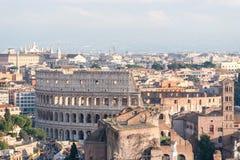 Powietrzny piękny pejzażu miejskiego widok Rzym Zdjęcia Stock