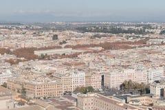 Powietrzny piękny pejzażu miejskiego widok Rzym Fotografia Stock