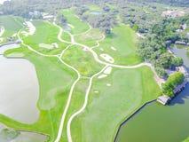 Powietrzny pole golfowe okręgu administracyjnego klub Austin, Teksas, usa zdjęcia royalty free