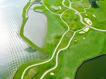 Powietrzny pole golfowe okręgu administracyjnego klub Austin, Teksas, usa obraz royalty free