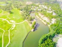 Powietrzny pole golfowe okręgu administracyjnego klub Austin, Teksas, usa Fotografia Royalty Free