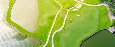 Powietrzny pole golfowe okręgu administracyjnego klub Austin, Teksas, usa Obrazy Royalty Free