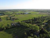 Powietrzny ptasi ` s oka widok Belgijska wieś zdjęcia stock
