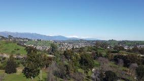 Powietrzny ranku widok Los Angeles miasta teren zdjęcie wideo