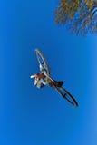 powietrzny roweru chłopiec brudu iść Zdjęcia Royalty Free