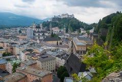 powietrzny Salzburg widok Obraz Stock