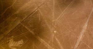Powietrzny samolotowy panoramiczny widok Nazca geoglyph wykłada aka pająka, Ica, Peru zdjęcia royalty free