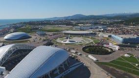 Powietrzny stadion futbolowy Fischt Sochi, Adler, Rosja, Olimpijski stadium, pochodni i Fisht budowaliśmy dla zim olimpiad Fotografia Stock