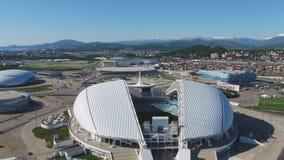 Powietrzny stadion futbolowy Fischt Sochi, Adler, Rosja, Olimpijski stadium, pochodni i Fisht budowaliśmy dla zim olimpiad Obrazy Stock