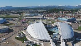 Powietrzny stadion futbolowy Fischt Sochi, Adler, Rosja, Olimpijski stadium, pochodni i Fisht budowaliśmy dla zim olimpiad Obrazy Royalty Free
