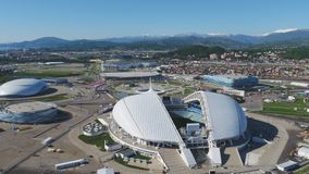 Powietrzny stadion futbolowy Fischt Sochi, Adler, Rosja, Olimpijski stadium, pochodni i Fisht budowaliśmy dla zim olimpiad Zdjęcie Stock