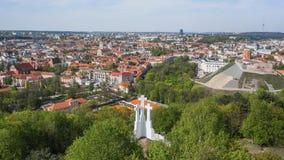 powietrzny stary grodzki widok Vilnius obraz stock