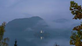 Powietrzny timelapse od nocy ranek sławny jezioro Krwawiący zbiory wideo