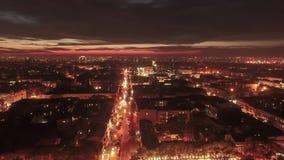 Powietrzny timelapse ruchliwie miasta ?r?dmie?cie w Odessa, Ukraina Hyperlapse chwyta? od trutnia zbiory wideo