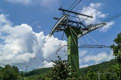 Powietrzny tramwaj Ober Gatlinburg w Gatlinburg Obrazy Stock