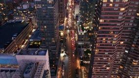 Powietrzny trutnia materiał filmowy Nowy Jork linia horyzontu zbiory