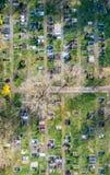 Powietrzny trutnia widok kościelny cmentarza cmentarz Niemcy fotografia royalty free