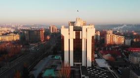 Powietrzny trutnia widok prezydentura budynek zbiory wideo
