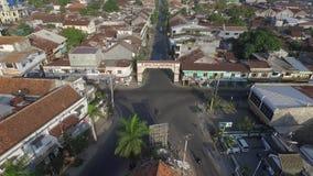 Powietrzny trutnia widoku Ampenan miasto w Lombok zbiory wideo