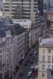 Powietrzny uliczny widok Zdjęcie Royalty Free
