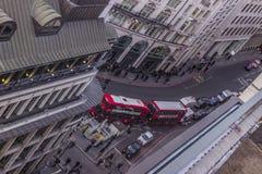 Powietrzny uliczny widok Obrazy Stock