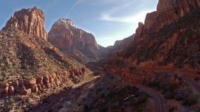 Powietrzny Utah Zion park narodowy zbiory wideo