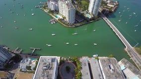 Powietrzny wideo belle wyspy Miami plaża Floryda 4k zbiory