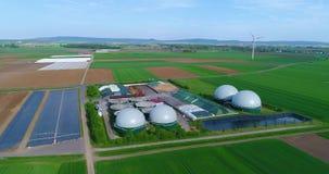 Powietrzny wideo Biogas roślina E zdjęcie wideo