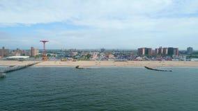 Powietrzny wideo Coney Island Brooklyn NY zdjęcie wideo