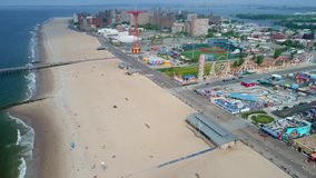 Powietrzny wideo Coney Island Brooklyn NY zbiory