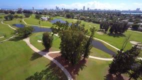 Powietrzny Wideo Miami plaży pole golfowe zdjęcie wideo