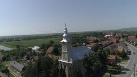 Powietrzny wideo miasto w Rumunia Satu klaczu zdjęcie wideo