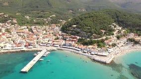 Powietrzny wideo Parga, Grecja zbiory wideo