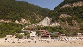 Powietrzny wideo Pefkoulia plaża, Lefkada, Grecja zdjęcie wideo