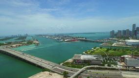 Powietrzny wideo W centrum Miami 4K zbiory