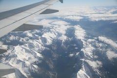 powietrzny widok górski Obrazy Royalty Free