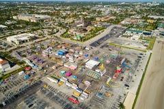 Powietrzny wizerunek Broward okręgu administracyjnego expo i jarmark obraz royalty free