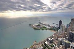 Powietrzny wizerunek Chicago, Illinois Obraz Stock