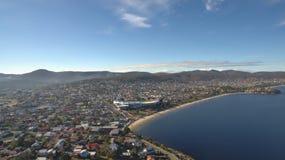 Powietrzny wizerunek Hobart Zdjęcie Stock