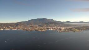 Powietrzny wizerunek Hobart Zdjęcie Royalty Free