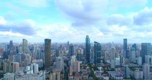 Powietrzny wizerunek megacity zdjęcia royalty free