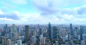 Powietrzny wizerunek megacity zdjęcie stock