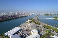 Powietrzny wizerunek Portowy Miami obraz stock