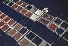 Powietrzny wizerunek rybiego gospodarstwa rolnego stan washington Obrazy Stock