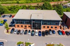 Powietrzny wizerunek Sumo Cyfrowego studio w Sheffield Jeden wielcy gra przedsiębiorcy budowlani w UK zdjęcie royalty free