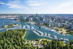 Powietrzny wizerunek Vancouver, BC, kolumbiowie brytyjska, Canad fotografia stock