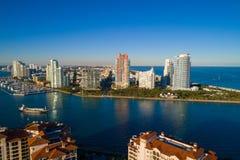 Powietrzny wizerunku Miami plaży FL usa obrazy stock